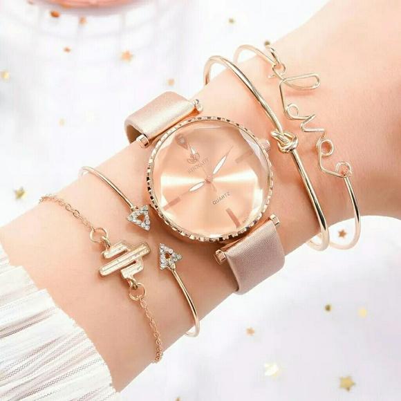 Accessories - 5pcs Set Top Style Fashion Women's Luxury Leather